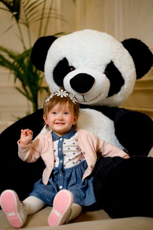 Большая сидячая панда 160см