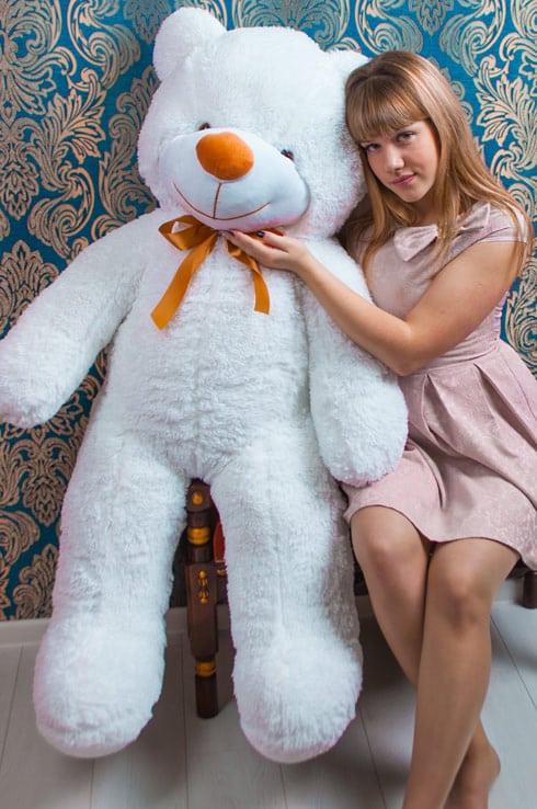 Белый мишка Добрыня 140см