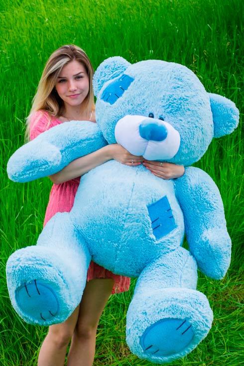 Большой голубой мишка Тедди