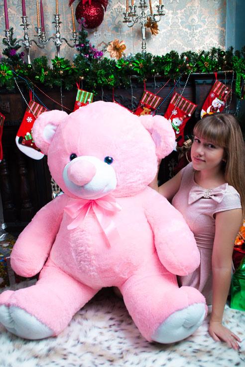 Розовый мишка Сеня 160см