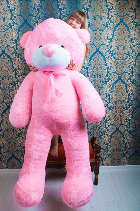 Розовый мишка 2 метра