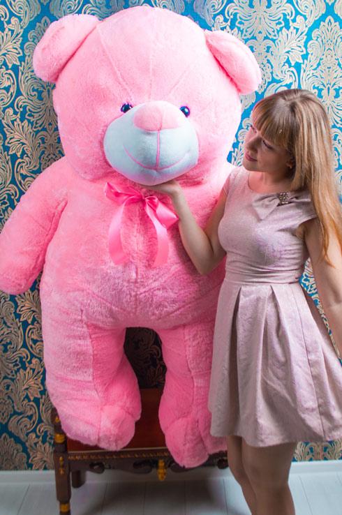 Мишка Вэтли розовый