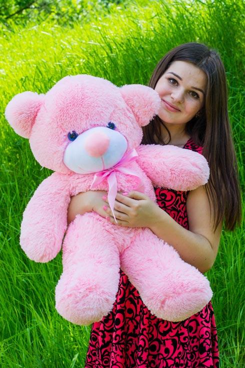 Розовый мишка Жозефина