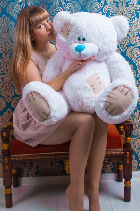 Белый мишка Арнольд