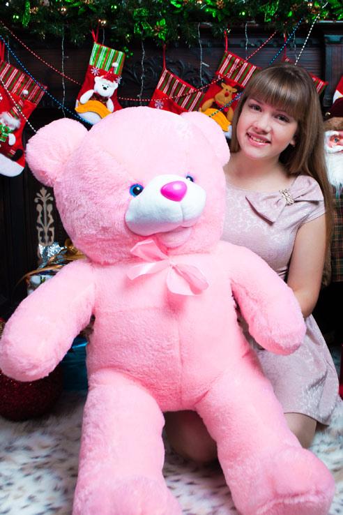 Розовый мишка Машенька